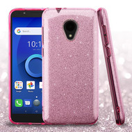 Asmyna Full Glitter Hybrid Protector Cover for Alcatel 1X Evolve - Pink