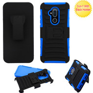 Asmyna Advanced Armor Stand Protector Cover Combo (with Black Holster) for Alcatel 7 Folio - Black / Dark Blue