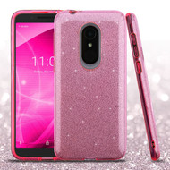 Asmyna Full Glitter Hybrid Protector Cover for Alcatel Revvl 2 - Pink