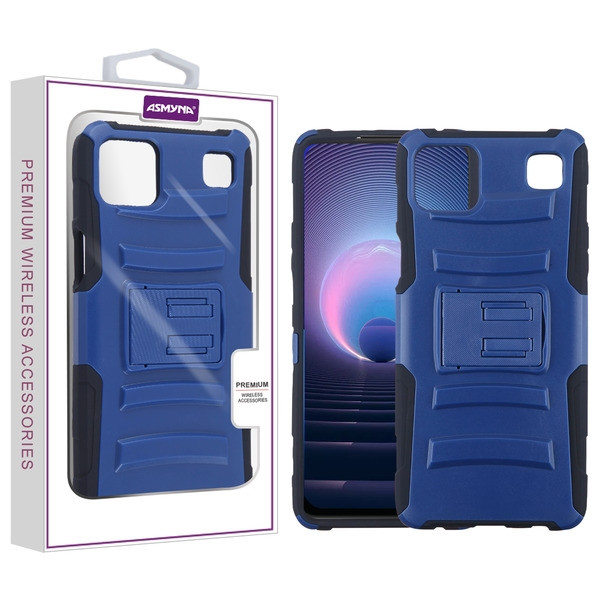 Asmyna Advanced Armor Stand Protector Case for Cricket Grand - Dark Blue / Black