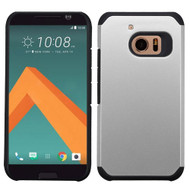 Asmyna Astronoot Protector Cover for Htc 10 - Silver / Black