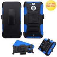 Asmyna Advanced Armor Stand Protector Cover Combo (with Black Holster) for Htc BOLT - Black / Blue