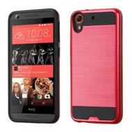 Asmyna Brushed Hybrid Protector Cover for Htc Desire 626 - Red / Black