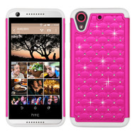 Asmyna FullStar Protector Cover for Htc Desire 626 - Hot Pink / Solid White