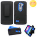 Asmyna Advanced Armor Protector Cover (with Black Holster) for Lg C40 (Leon)/H320 - Black / Dark Blue