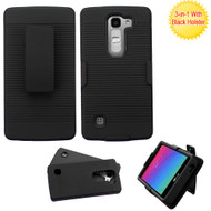 Asmyna Advanced Armor Protector Cover (with Black Holster) for Lg H443 (Escape 2) - Black / Black