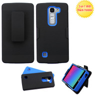 Asmyna Advanced Armor Protector Cover (with Black Holster) for Lg H443 (Escape 2) - Black / Dark Blue