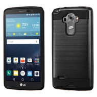 Asmyna Brushed Hybrid Protector Cover for Lg H740 (G Vista 2) - Black / Black