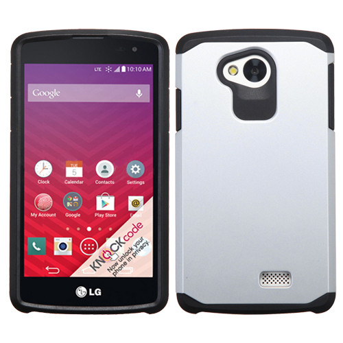 Asmyna Astronoot Protector Cover for Lg LS660 (TRIBUTE) - Silver / Black
