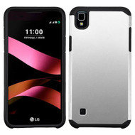 Asmyna Astronoot Protector Cover for Lg LS676 (X STYLE) - Silver / Black