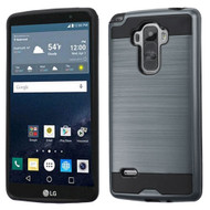 Asmyna Brushed Hybrid Protector Cover for Lg LS770 (G Stylo) - Ink Blue / Black