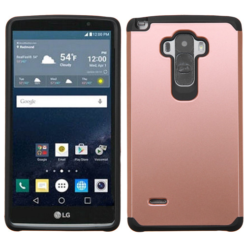 Asmyna Astronoot Protector Cover for Lg LS770 (G Stylo) - Rose Gold / Black
