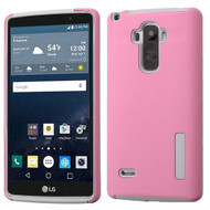Asmyna Hybrid Protector Cover for Lg LS770 (G Stylo) - Pink / Gray