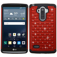 Asmyna FullStar Protector Cover for Lg LS770 (G Stylo) - Red / Black