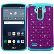 Asmyna FullStar Protector Cover for Lg LS770 (G Stylo) - Purple / Tropical Teal