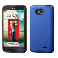 Asmyna Advanced Armor Protector Cover for Lg MS323 (Optimus L70) - Dark Blue / Black