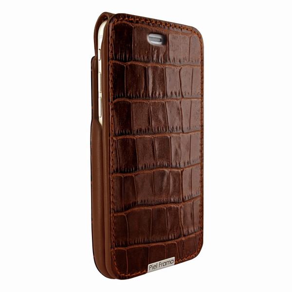 Piel Frama 771 Brown Crocodile UltraSliMagnum Leather Case for Apple iPhone 7 Plus / 8 Plus