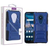 Asmyna Advanced Armor Stand Protector Cover for Nokia C5 Endi - Dark Blue / Black