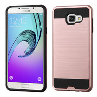 Asmyna Brushed Hybrid Protector Cover for Samsung A710 Galaxy A7 (2016) - Rose Gold / Black