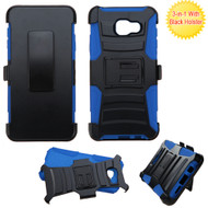 Asmyna Advanced Armor Stand Protector Cover Combo (with Black Holster) for Samsung A710 Galaxy A7 (2016) - Black /  Blue