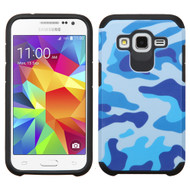 Asmyna Advanced Armor Protector Cover for Samsung G360 (Prevail LTE) - Navy Blue / Black