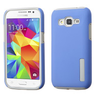 Asmyna Hybrid Protector Cover for Samsung G360 (Prevail LTE) - Blue / Gray