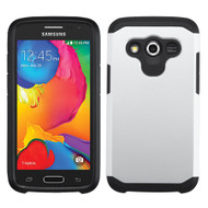 Asmyna Astronoot Protector Cover for Samsung G386T (Galaxy Avant) - Silver / Black