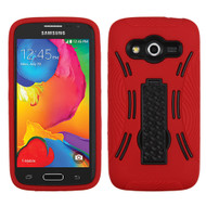 Asmyna Symbiosis Stand Protector Cover for Samsung G386T (Galaxy Avant) - Black / Red