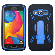 Asmyna Symbiosis Stand Protector Cover for Samsung G386T (Galaxy Avant) - Dark Blue / Black