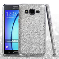 Asmyna Full Glitter Hybrid Protector Cover for Samsung G550 (On5) - Silver