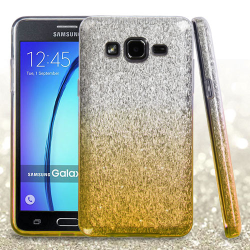 Asmyna Gradient Glitter Hybrid Protector Cover for Samsung G550 (On5) - Gold