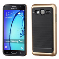 Asmyna Astronoot Protector Cover for Samsung G550 (On5) - Gold Frame / Black