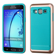 Asmyna Astronoot Protector Cover for Samsung G550 (On5) - Rose Gold Frame / Tropical Teal