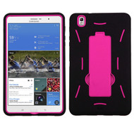 Asmyna Symbiosis Stand Protector Cover for Samsung T320 (Galaxy Tab Pro 8.4) - Hot Pink / Black