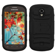 Asmyna Advanced Armor Stand Protector Cover for Samsung T399 (Galaxy Light) - Black / Black
