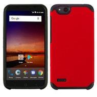 Asmyna Astronoot Protector Cover for Zte Fanfare 3 - Red / Black