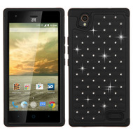 Asmyna FullStar Protector Cover for Zte N9518 (Warp Elite) - Black / Black