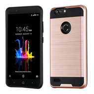Asmyna Brushed Hybrid Protector Cover for Zte Sequoia - Rose Gold / Black