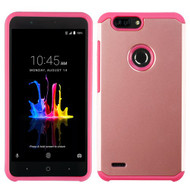Asmyna Astronoot Protector Cover for Zte Sequoia - Rose Gold / Hot Pink