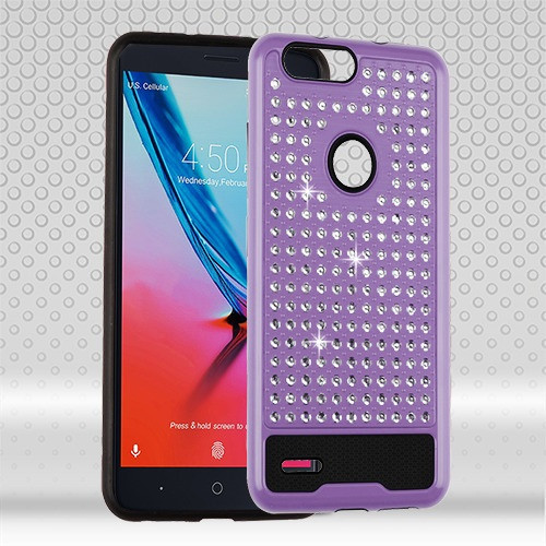 Asmyna Diamante FullStar Protector Cover for Zte Sequoia - Purple / Black
