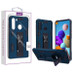 Asmyna Hybrid Case (with Stand) for Samsung Galaxy A21 - Ink Blue / Black