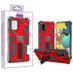Asmyna Sturdy Hybrid Protector Cover (with Stand) for Samsung Galaxy A51 5G - Red / Black