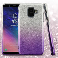 Asmyna Gradient Glitter Hybrid Protector Cover for Samsung Galaxy A6 (2018) - Purple