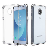 Asmyna Klarion Candy Skin Cover for Samsung J337 (Galaxy J3 (2018)) - Electroplating Silver / Transparent Clear