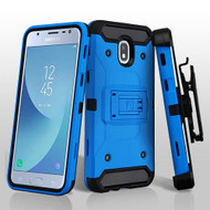 Asmyna Kinetic Hybrid Protector Cover Combo (with Black Holster) for Samsung J337 (Galaxy J3 (2018)) - Blue / Black
