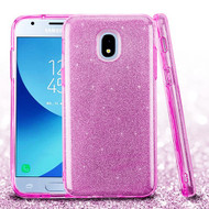 Asmyna Full Glitter Hybrid Protector Cover for Samsung J337 (Galaxy J3 (2018)) - Purple