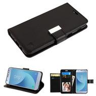 Asmyna MyJacket Wallet Xtra Series for Samsung J337 (Galaxy J3 (2018)) - Black / Black