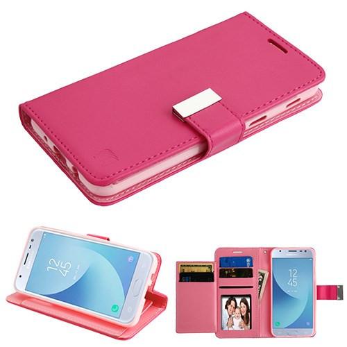 Asmyna MyJacket Wallet Xtra Series for Samsung J337 (Galaxy J3 (2018)) - Hot Pink / Pink