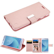 Asmyna MyJacket Wallet Xtra Series for Samsung J337 (Galaxy J3 (2018)) - Rose Gold