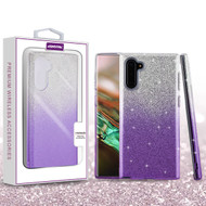 Asmyna Gradient Glitter Hybrid Protector Cover for Samsung Galaxy Note 10 (6.3) - Purple